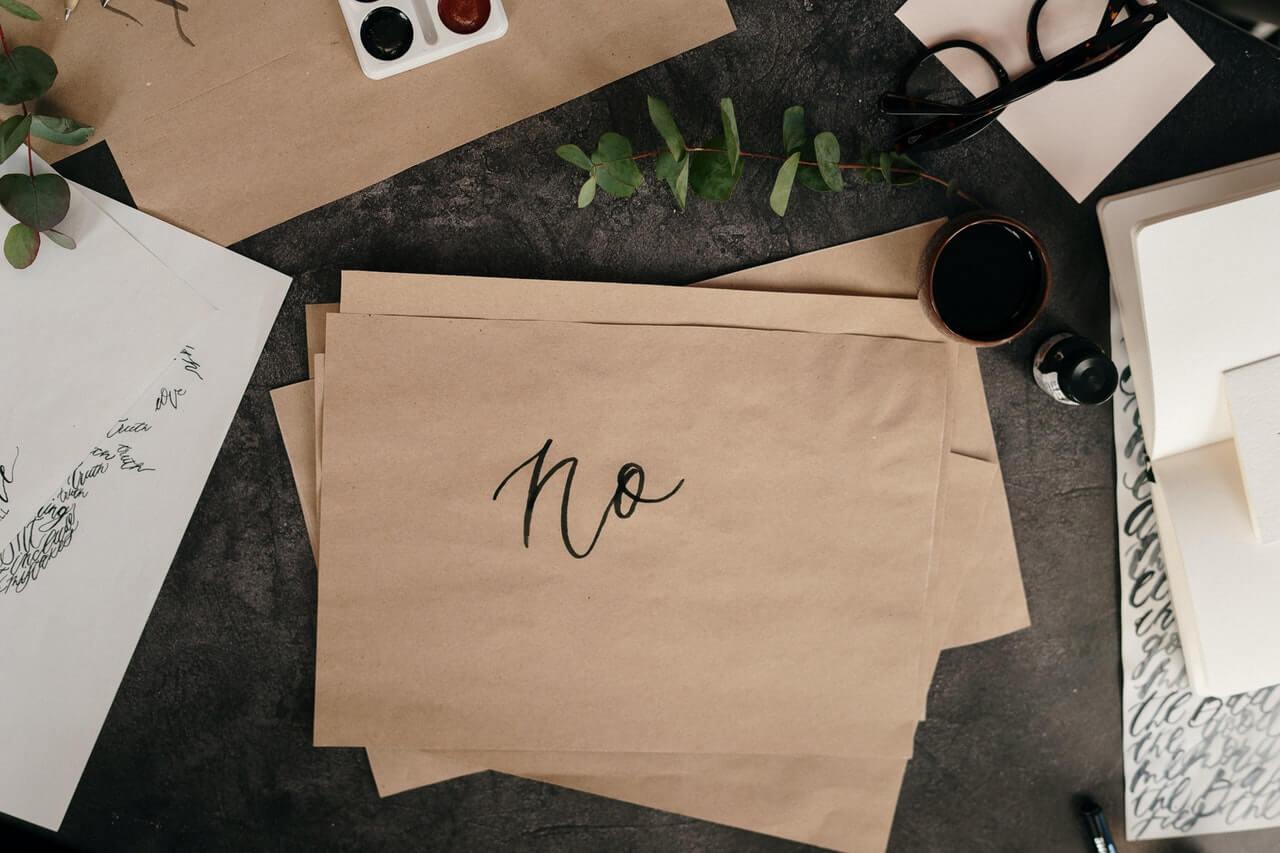 No written on paper