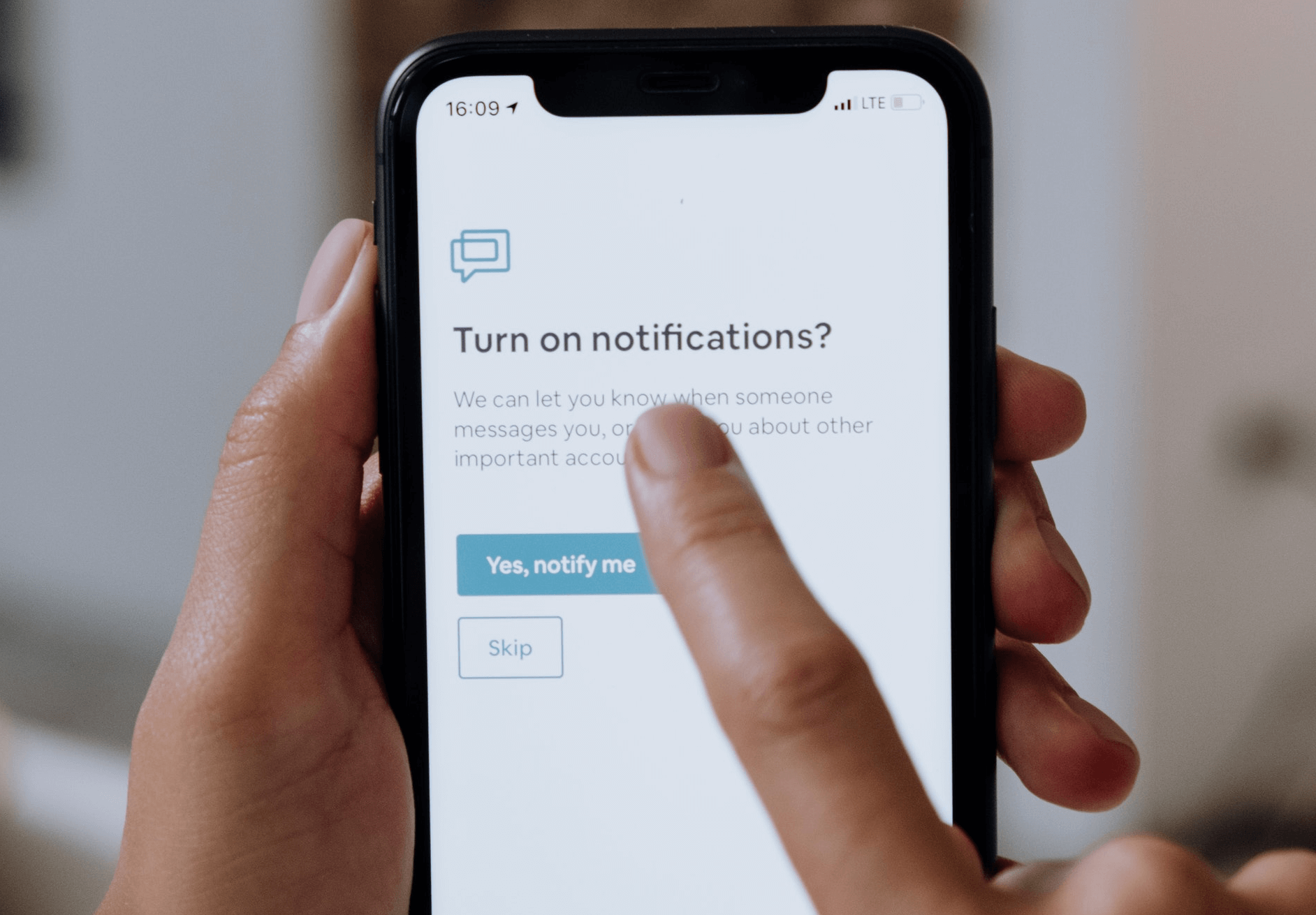 Turning off phone notifications to save time